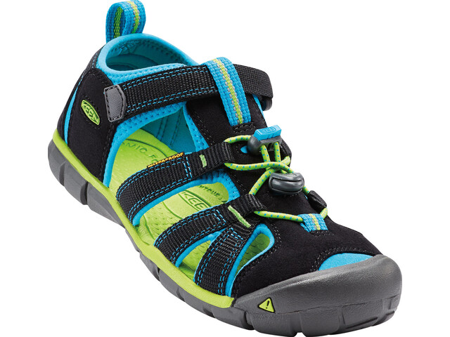 Keen Kids Seacamp II CNX Sandals Black/Blue Danube